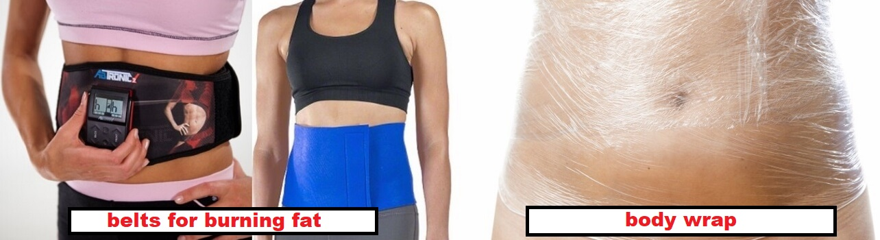 fat burning belts wraps and creams