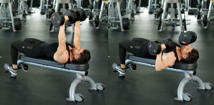 classic dumbbell bench press