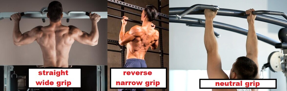 different grips in pull ups