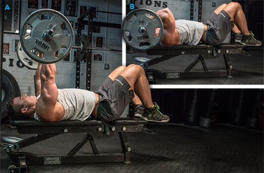 straight bar triceps extension