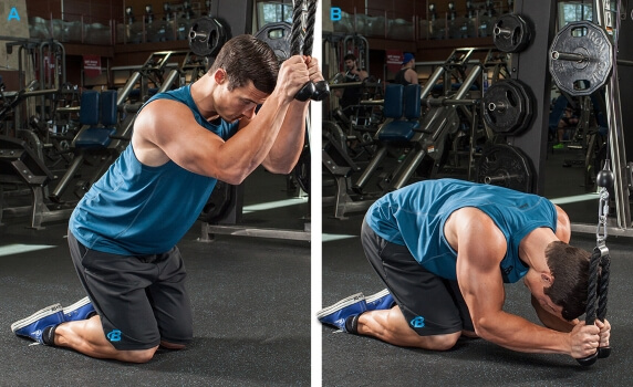 cable crunches