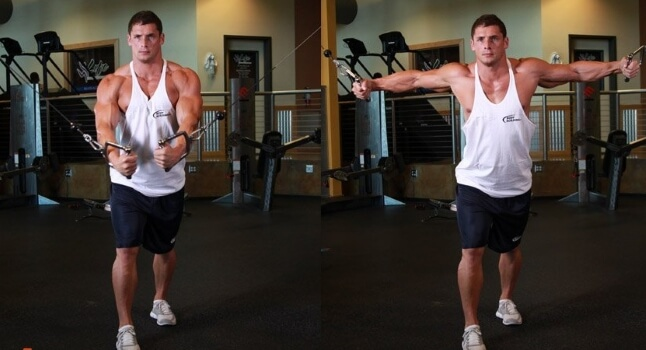 upper cable crossover chest fly