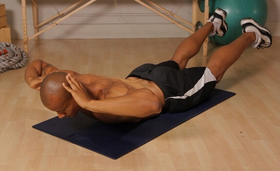back extension on the floor