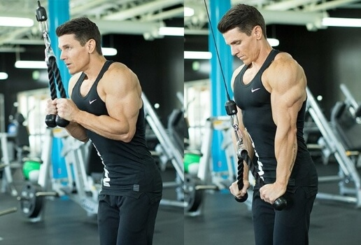 cable rope triceps extension