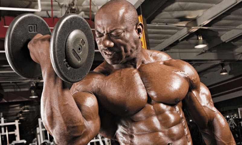 dumbbell biceps curl with supination
