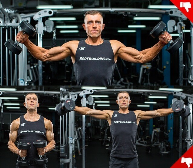 mistakes during dumbbell side lateral raise