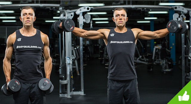 technique of performing dumbbell side lateral raise