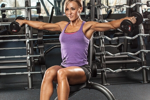 seated dumbbell side lateral raise